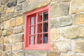Small Red Window — Stock Photo
