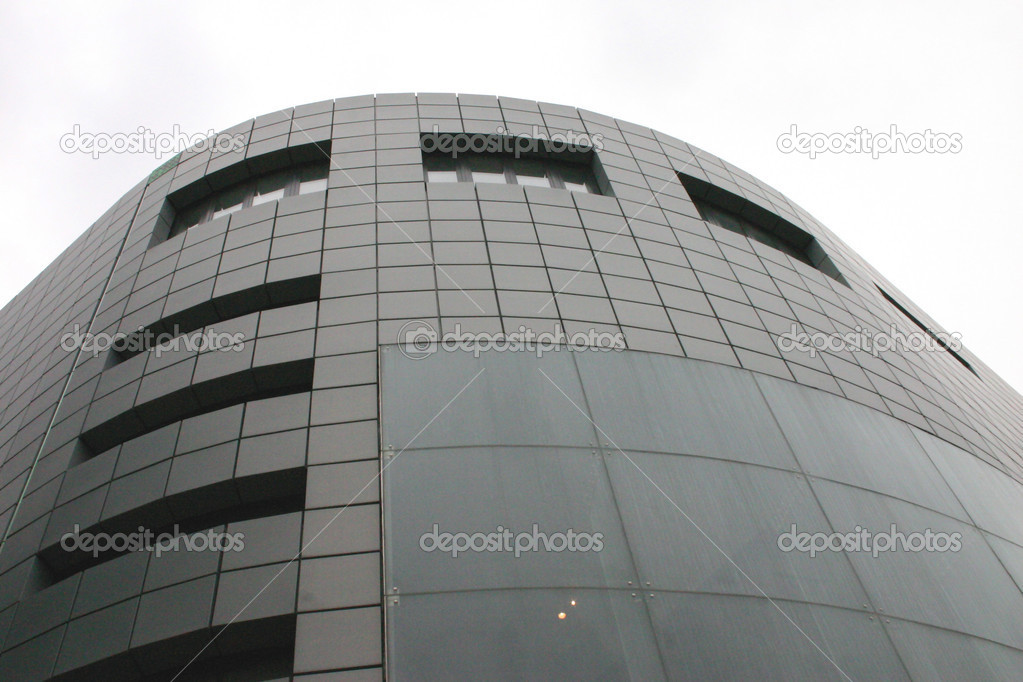Modern Building in Liverpool with Curved Glass and Steel Front  Stock Photo #2802719