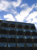 Geometric Modern Office Building in Liverpool — Stok fotoğraf