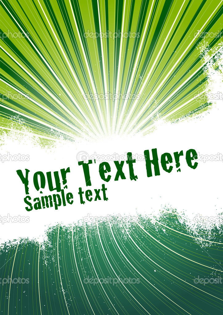 Vector grunge background with copy space for your text. Global Swatches Included. — Stock Vector #3819563