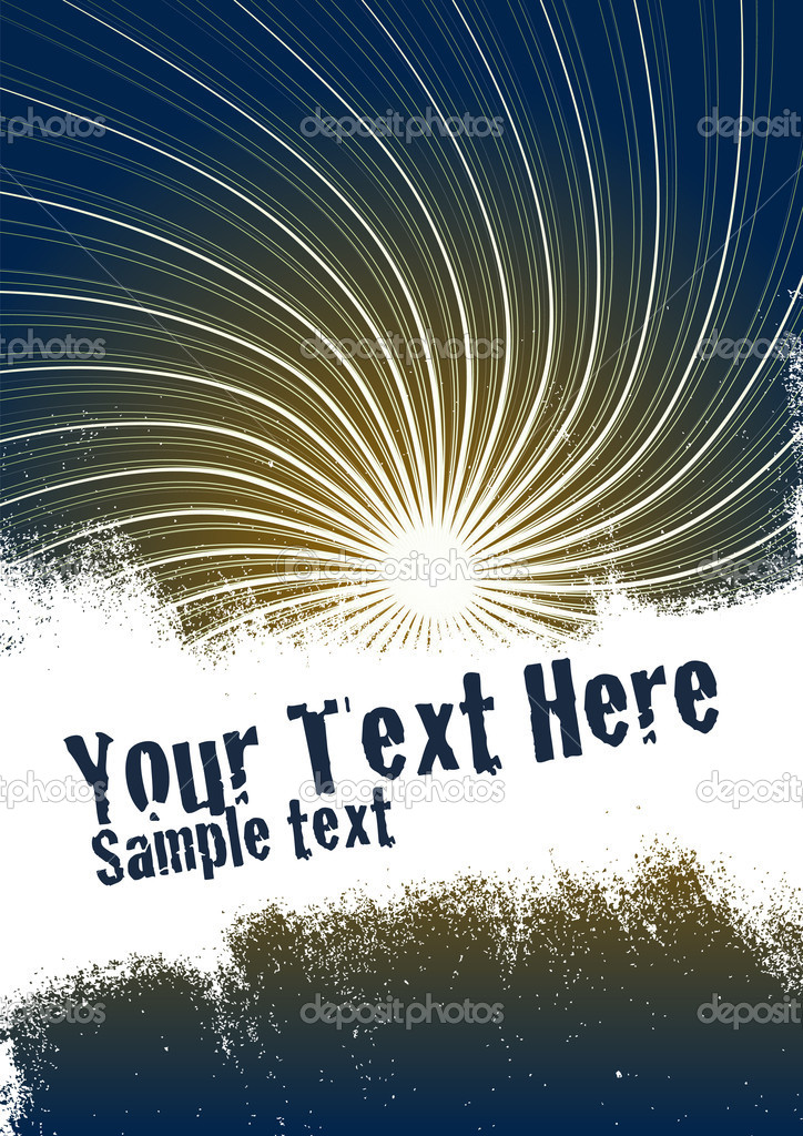 Vector grunge background with copy space for your text. Global Swatches Included. — Stock Vector #3819595
