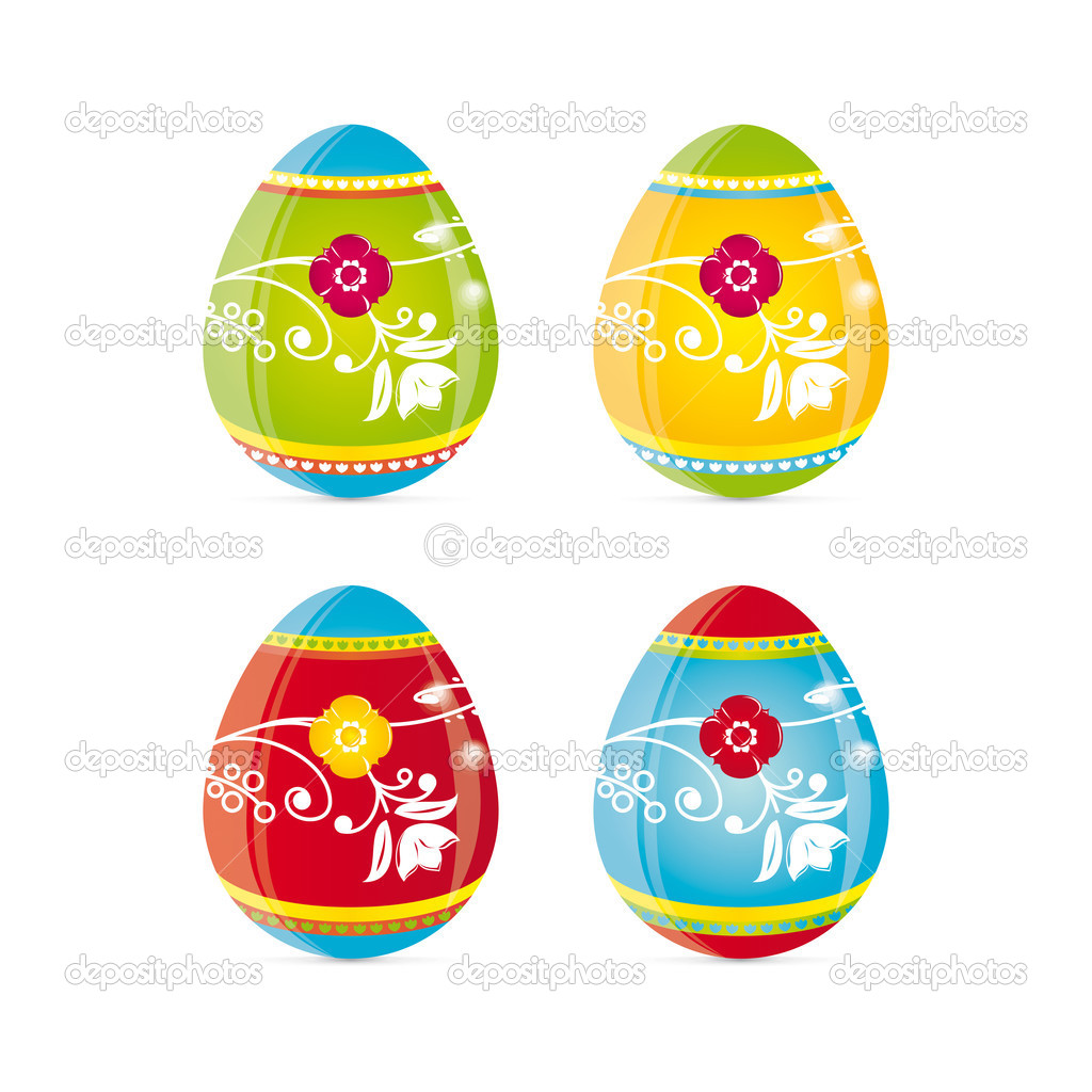 Vector illustration of easter eggs.  Stock Vector #3819853