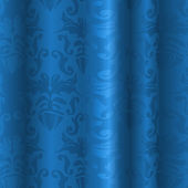Blue Silk Pattern — Stockvektor