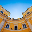 Round angle of classic style building — Stock Photo