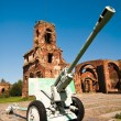 Old battle cannon — Stock Photo