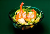 Prawn asian salad — Stock Photo