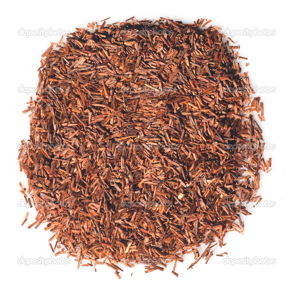 African herbal Rooibos tea leaves isolated over white — Stock Photo #2706148