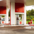 Empty petrol station - Stock Photo