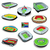 South african soccer stadiums — Stock Vector