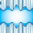 Stock Vector: Sound waves background