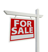 For Sale Real Estate Sign Isolated on a White — Stock Photo