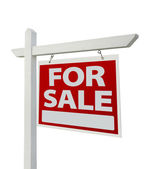 For Sale Real Estate Sign Isolated — Stock Photo