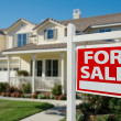 Home For Sale Real Estate Sign in Front — Stock Photo #2814393