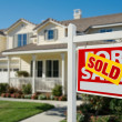 Sold Home For Sale Real Estate Sign in Front — Stock Photo #2814400