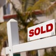 Close-up of Sold Real Estate Sign — Stock Photo #2979552