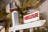 Close-up Foreclosure Real Estate Sign — Stock Photo