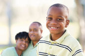 African American Boy with Parents — Stock Photo
