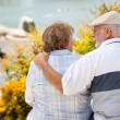 Happy Senior Couple Enjoying Each Other — Stock Photo