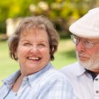 Happy Senior Couple Enjoying Each Other — Stock Photo #3062019