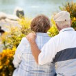 Happy Senior Couple Enjoying Each Other - Stock Photo
