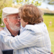 Happy Senior Couple Enjoying Each Other — Stock Photo #3062025