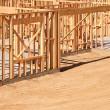 New Residential Home Construction Framing Site J — Stock Photo