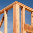 Stock Photo: New Residential Home Construction Frame