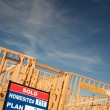 Постер, плакат: Sold Lot Sign and Framing Construction