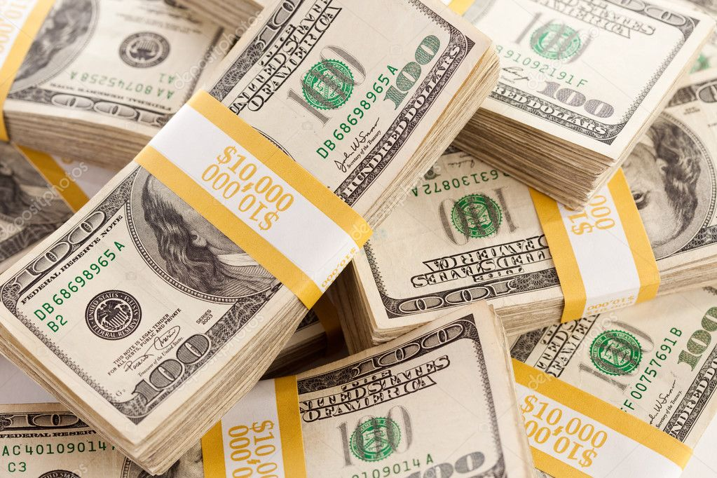 Stacks of Ten Thousand Dollars Cash — Stock Photo #3159212