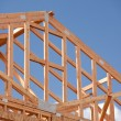 Royalty-Free Stock Photo: Abstract of Home Construction Framing