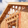 Abstract of Home Construction Framing — Stock Photo
