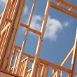 New Home Construction Site Framing — Stock Photo