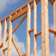 New Home Construction Site Framing — Stock Photo #3187132