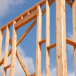 Stock Photo: New Home Construction Site Framing