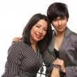 Multiethnic Mother and Daughter Portrait — Stock Photo