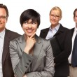 Businessmen and Businesswomen on White — Stock Photo