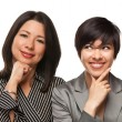 Attractive Multiethnic Mother and Daughter Portrait — Stock Photo