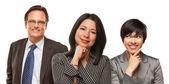Hispanic Women and Businessman on White — Stock Photo