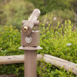 Royalty-Free Stock Photo: Public Coin Operated Telescope at Wilderness Overlook