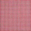Red and White Gingham Checkered Tablecloth Background - Stock Photo
