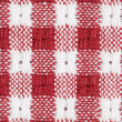 Red and White Gingham Checkered Tablecloth Background — Stock Photo