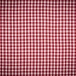 Red and White Gingham Checkered Tablecloth Background with Vigne - Stock Photo