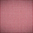 Red and White Gingham Checkered Tablecloth Background with Vigne — Stock Photo