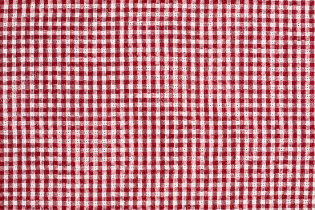 Red and White Checkered Picnic Blanket Tablecloth Detail — Stock Photo #3716380