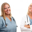 Set of Smiling Male and Female Doctors or Nurses — Stock Photo #3764612