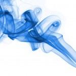 Blue smoke on white background — Stock Photo