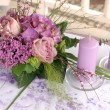 Violet wedding decoration - Stock Photo