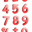 3d numbers — Stock Photo