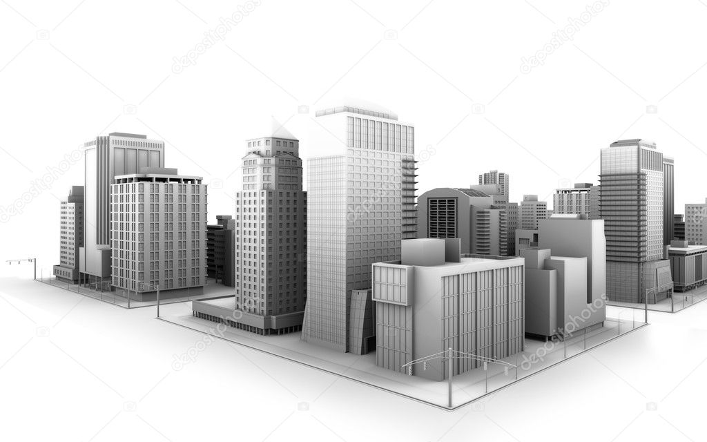Illustration of a fictional city — Stock Photo #2709321