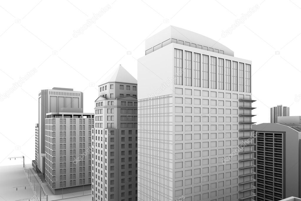 Illustration of a city, with blank area for your own text or design. — Stock Photo #2709339